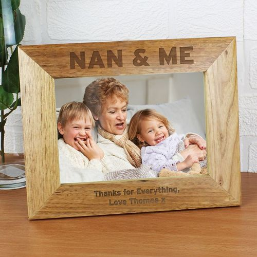 Personalised Nan & Me 5 x 7 Wooden Photo Frame
